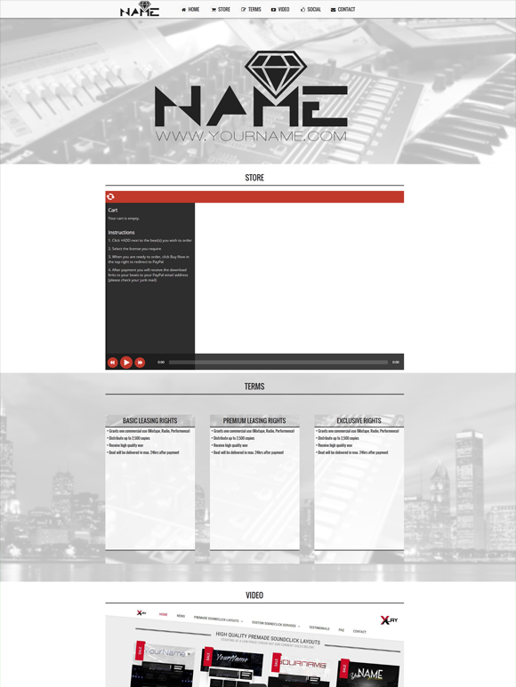 Premade One Page Website #001