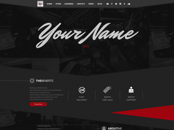 Wordpress Theme 056