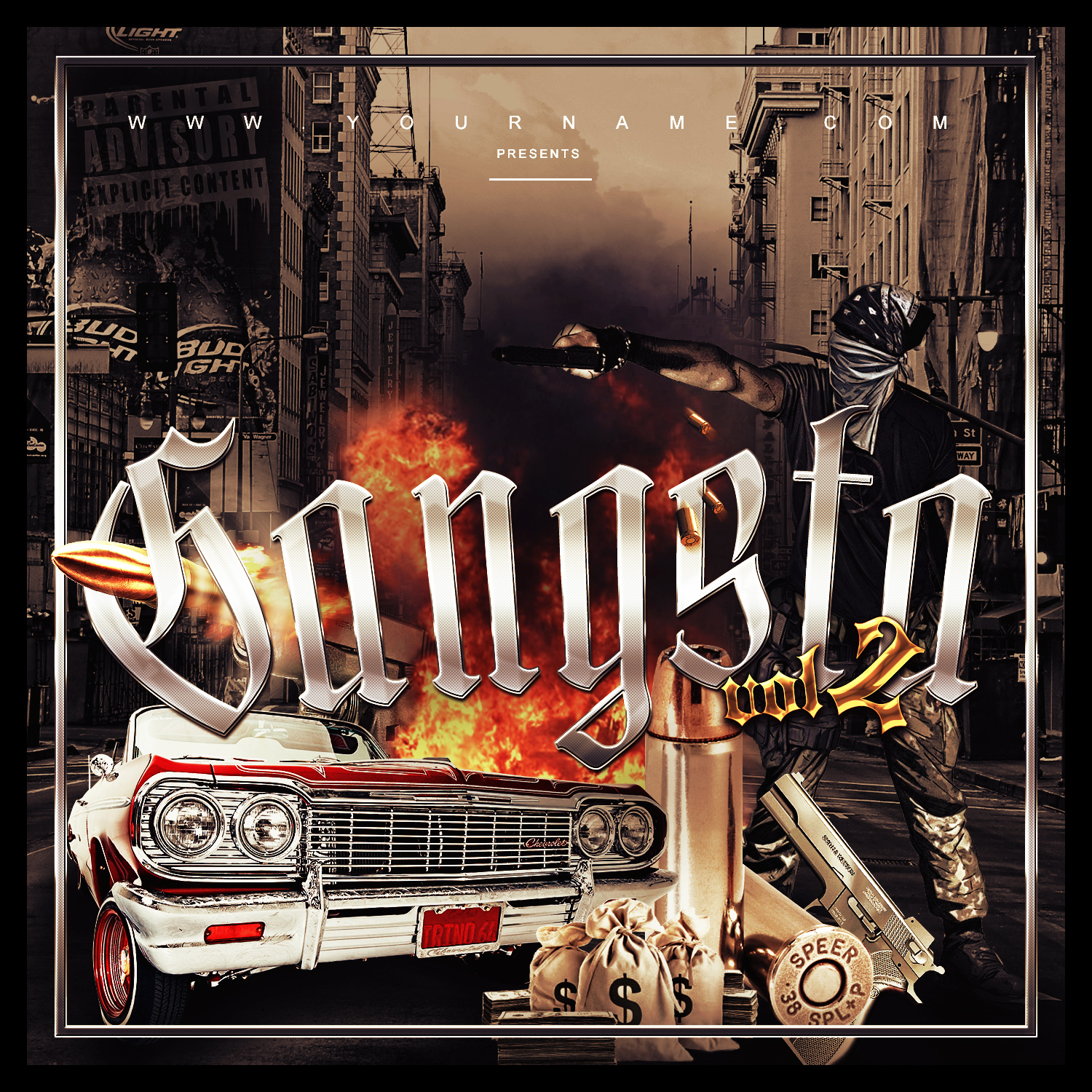 Gangsta mixtape cover template vms for Free mixtape covers templates