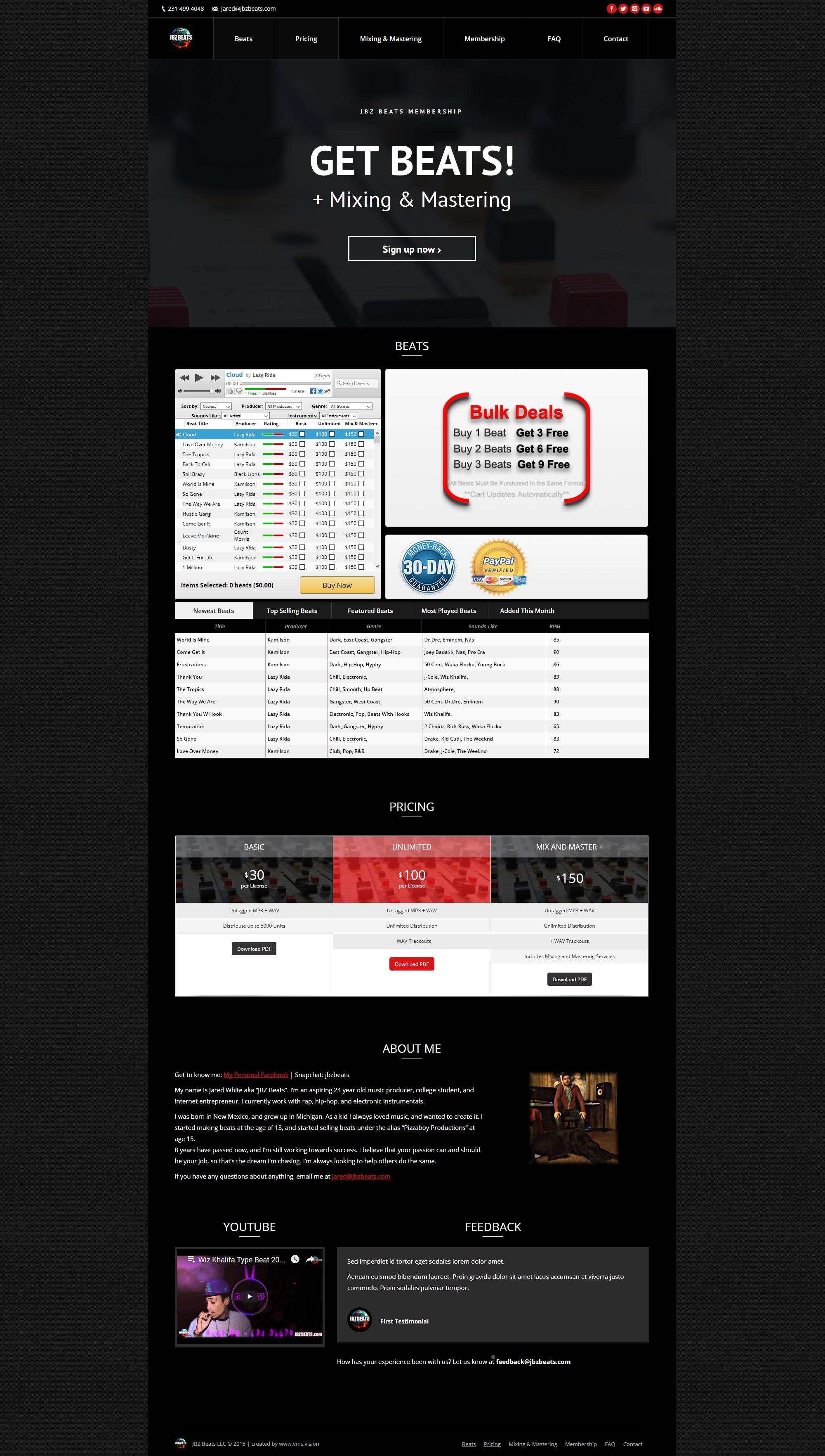 portfolio-website-jbzbeats-wordpress-full