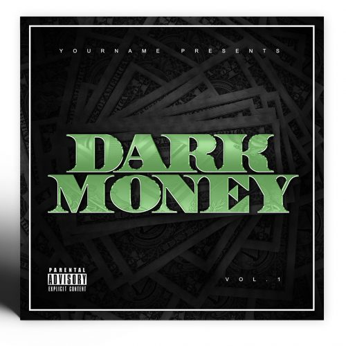Dark Money Mixtape Cover Template Photoshop PSD