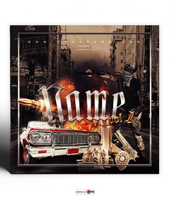 Gangsta Premade Mixtape Cover