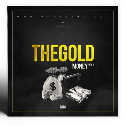 Gold Money Mixtape Cover Photoshop PSD Template