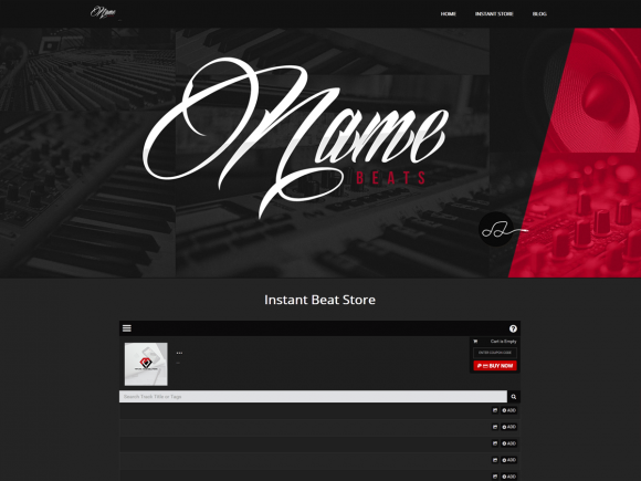 Premade Producer Wordpress Theme 063