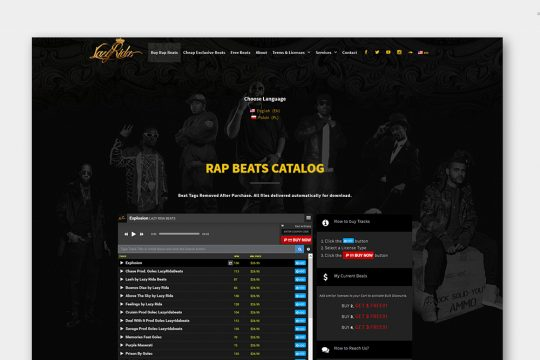 Custom Multi-Page WordPress Website Lazy Rida Beats
