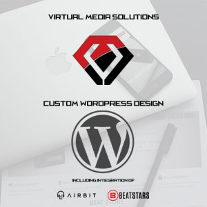 Custom Wordpress Design including Airbit Myflashstore or Beatstars Player integration