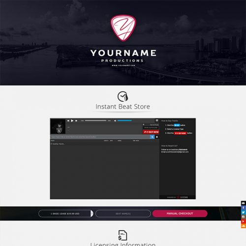 Premade One-Page Website #064
