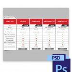 Clean Beats Licensing Info Table PSD Preview