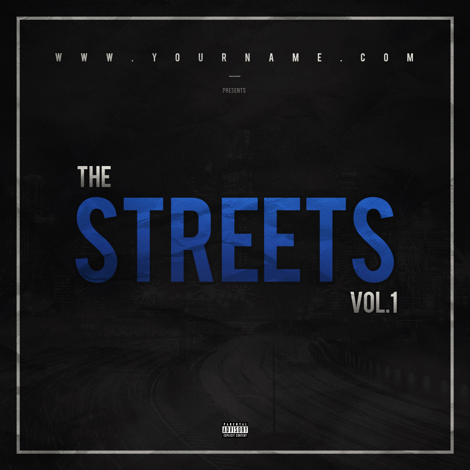 Street mixtape cover template vms for Free mixtape covers templates
