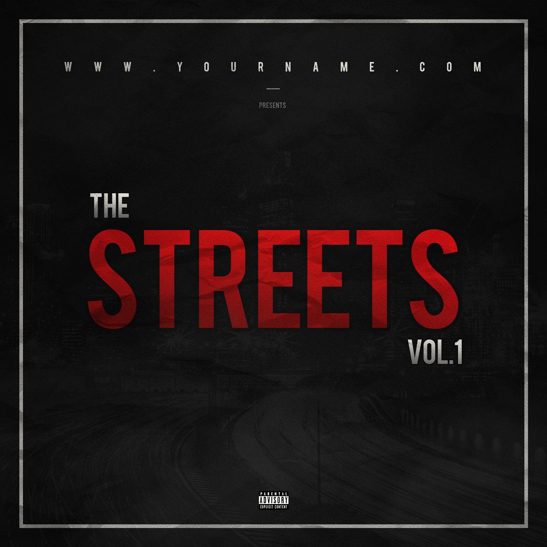 Street Mixtape Cover Template - VMS