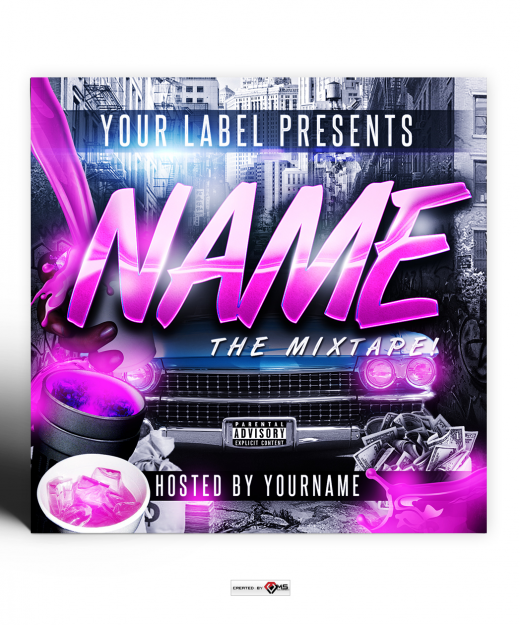 Trap Soda Street Mixtape Cover Template