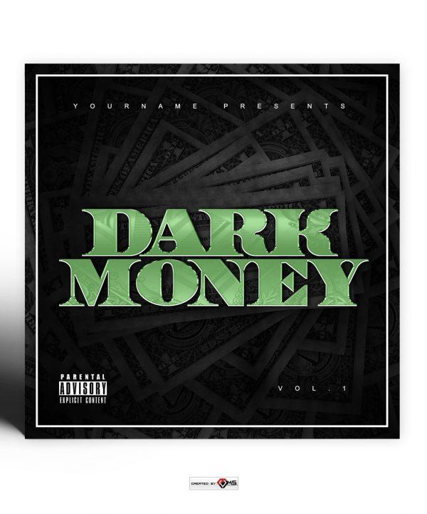 Dark Money Mixtape Cover Template Photoshop PSD