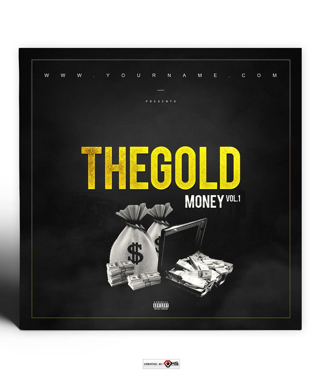 Gold Money Mixtape Cover Template Vms