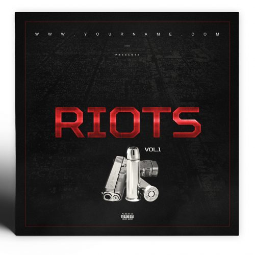 Riots Mixtape Cover PSD Photoshop Template