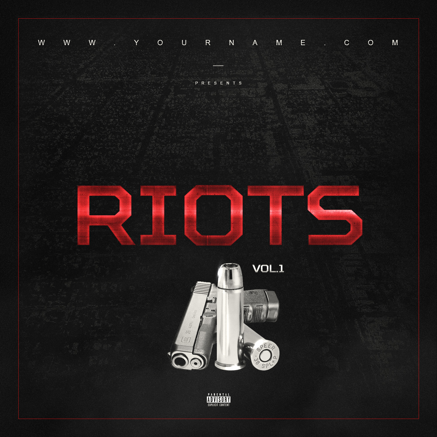 Riots Mixtape Cover Template Vms