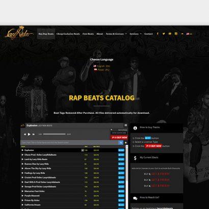 Custom Multi-Page WordPress Website Lazy Rida Beats
