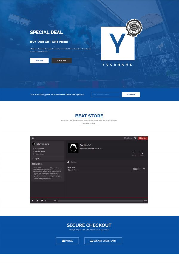 Premade One-Page mobile ready responsive Website #003