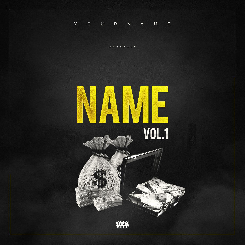 Gold Money Premade Mixtape Cover Vms