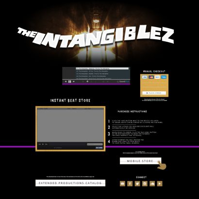 Custom Soundclick Layout for The Intangiblez