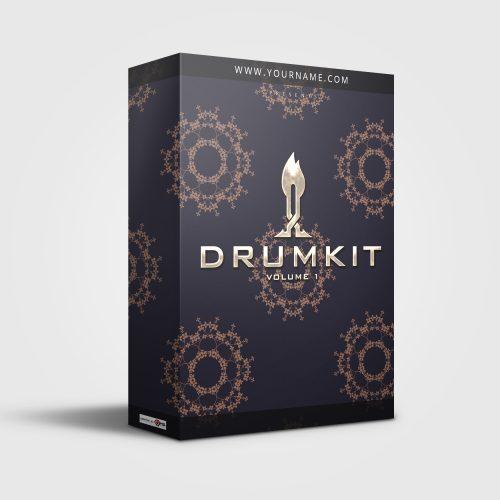 Premade Drumkit Box Design Oriental