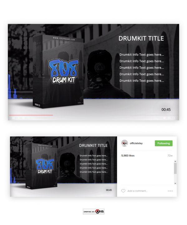 Customizable DrumKit Visualizer - 808 DrumKit