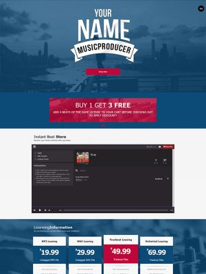 Premade One Page Website #067