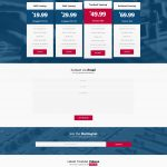 Premade One Page Website #067 Fullsize