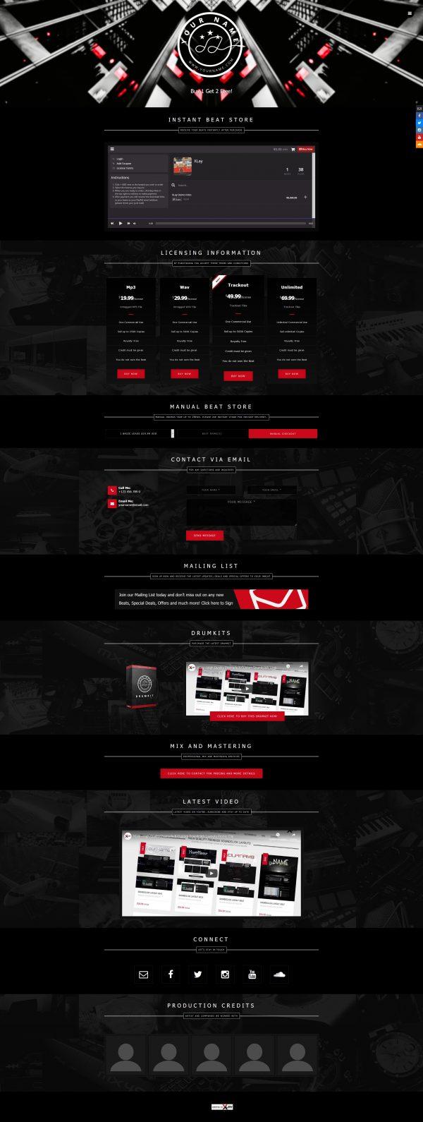 Premade One Page Website #068 Fullsize