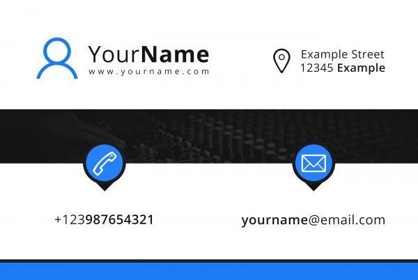 Premade Business Card Design Mixava Back