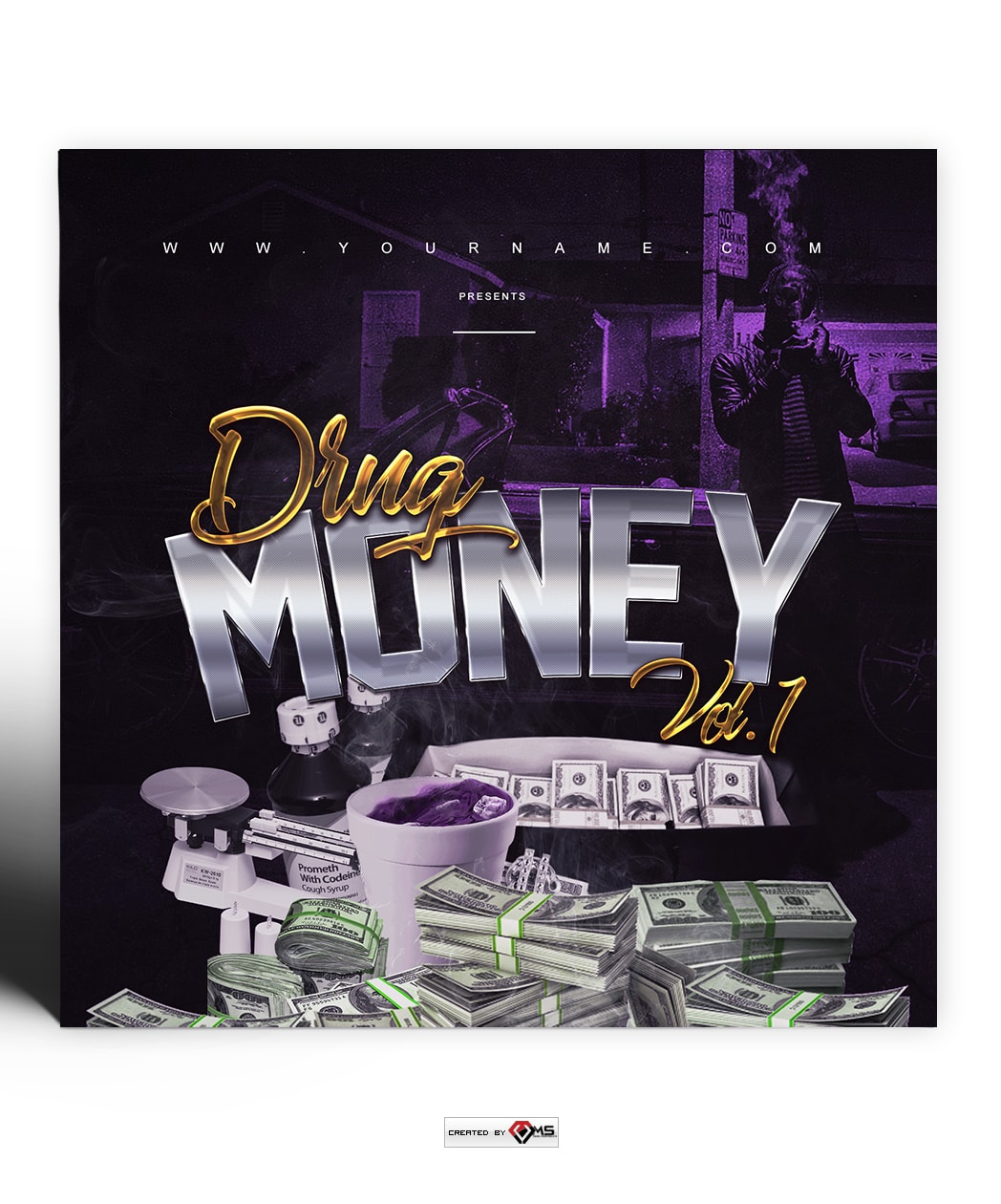 Drug Money premade Mixtape Cover