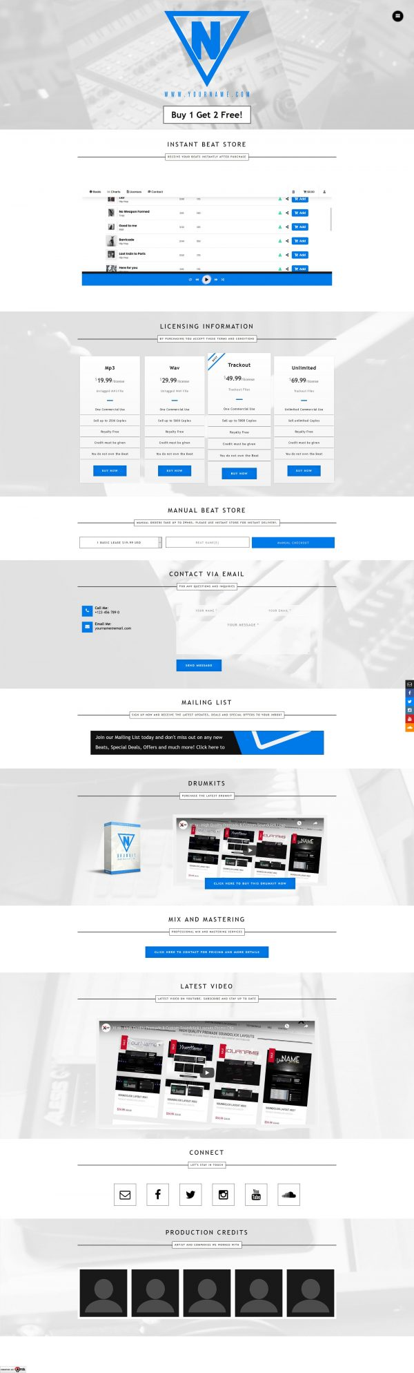 Premade One Page Website #069 Fullsize Preview