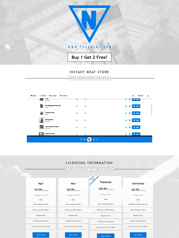 Premade One Page Website #069