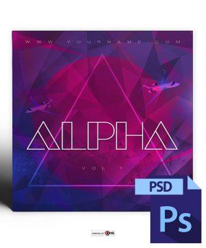 Alpha Mixtape Cover Template PSD