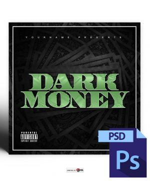Dark Money Mixtape Cover Template PSD