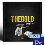 Gold Money Mixtape Cover Template PSD