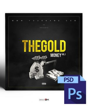 Gold Money Mixtape Cover Template PSD