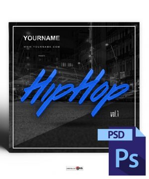 HipHop Mixtape Cover Template PSD
