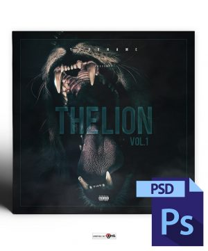 Lion Mixtape Cover Template PSD