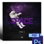 Space Mixtape Cover Template PSD