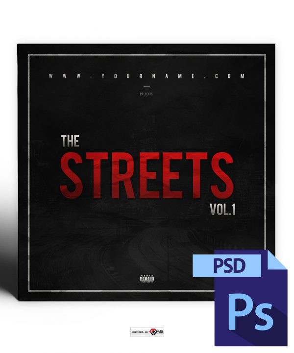 Streets Mixtape Cover Template PSD