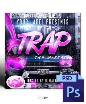 Trap Mixtape Cover Template PSD