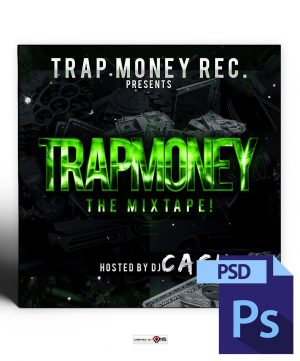 Trap Money Mixtape Cover Template PSD