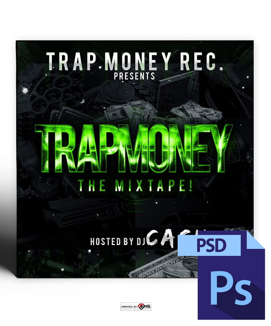 Trap Money Mixtape Cover Template Vms