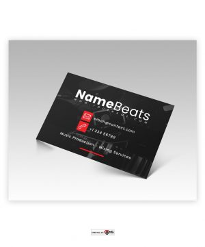 Premade Business Card Design Simple Desk