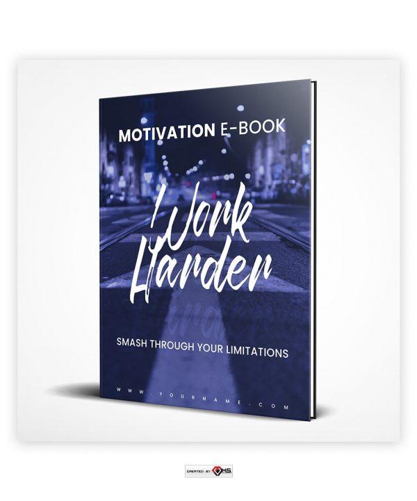 Premade Work Harder E-Book Cover