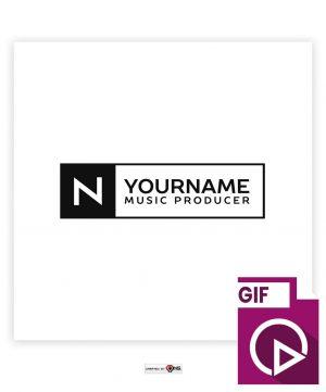 Premade Minimal Banner animated Logo 031