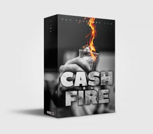 Premade Drumkit Cash on Fire