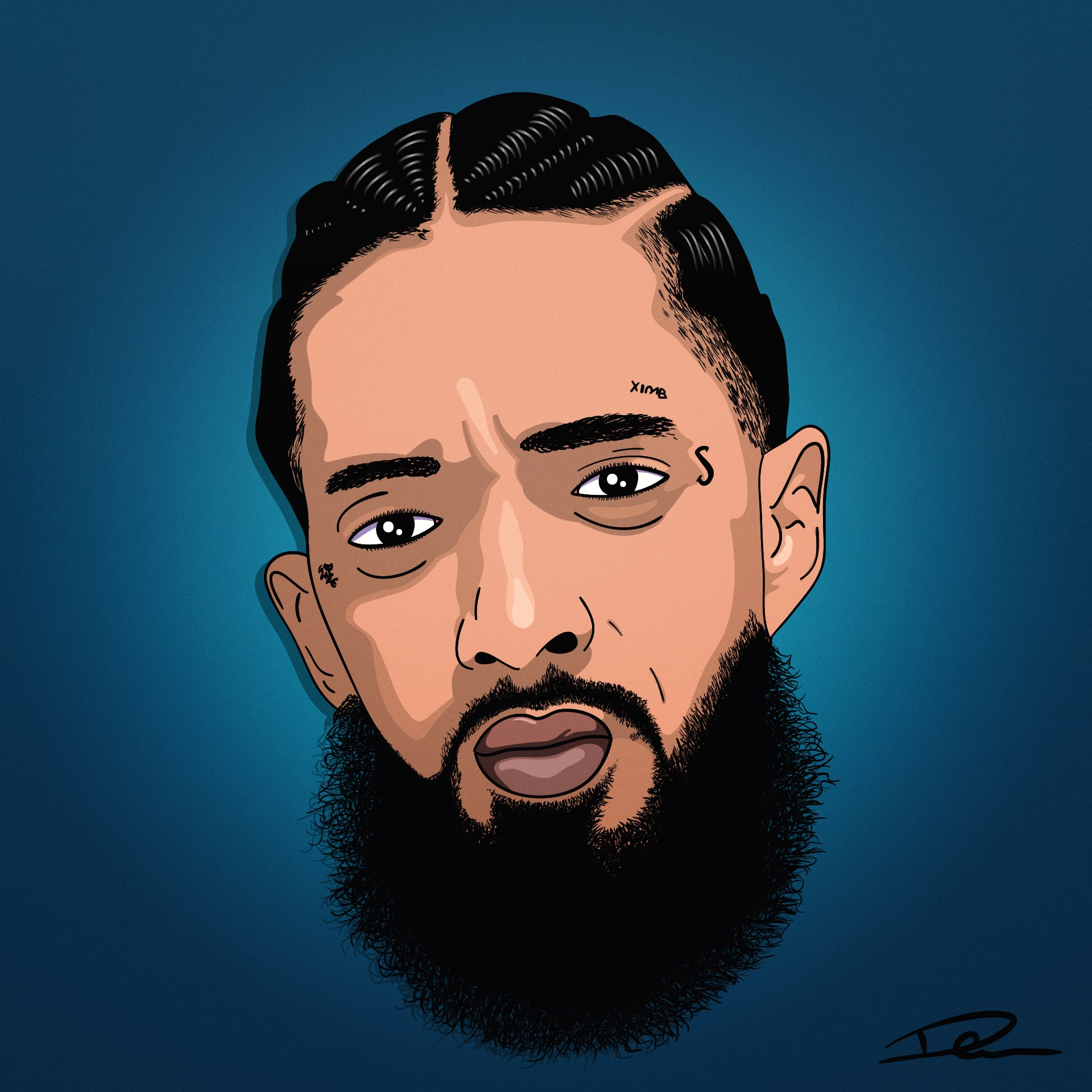 Nipsey Hussle Cartoon Artwork