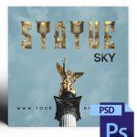 Statue Sky Mixtape Cover Photoshop PSD Template