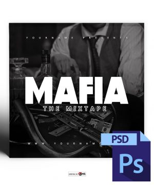 VMS - Mafia Mixtape Cover Photoshop PSD Template